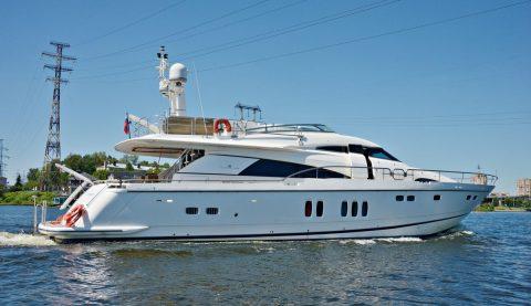 аренда яхты fairline 74